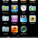 Mockup of iPhone app folders (modelled on the iPod Touch)