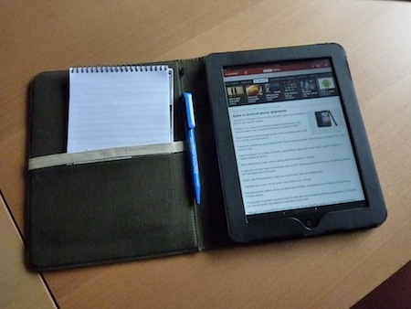 My iPad wearing Proporta's Recycled Leather case